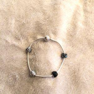 Retired Pandora Essence Bracelet with charms